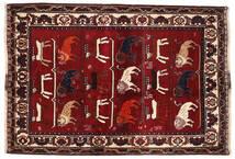 Ghashghai Matto 127X186 Itämainen Käsinsolmittu Tummanpunainen/Tummanruskea (Villa, Persia/Iran)