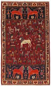 Ghashghai Matto 124X211 Itämainen Käsinsolmittu Tummanpunainen/Tummanruskea (Villa, Persia/Iran)