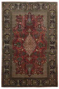 Ghom Kork/Silkki Matto 136X208 Itämainen Käsinsolmittu Tummanruskea/Tummanpunainen (Villa/Silkki, Persia/Iran)