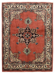 Ardebil Matto 146X196 Itämainen Käsinsolmittu Tummanpunainen/Tummanruskea (Villa, Persia/Iran)