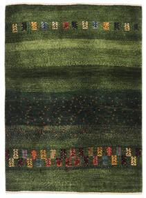 Gabbeh Persia Matto 91X126 Moderni Käsinsolmittu Tummanvihreä/Oliivinvihreä (Villa, Persia/Iran)