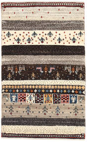 Gabbeh Persia Matto 77X126 Moderni Käsinsolmittu Tummanruskea/Vaaleanharmaa (Villa, Persia/Iran)