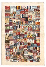 Gabbeh Persia Matto 102X150 Moderni Käsinsolmittu Beige (Villa, Persia/Iran)