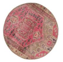 Vintage Heritage Matto Ø 100 Moderni Käsinsolmittu Pyöreä Ruskea/Pinkki (Villa, Persia/Iran)