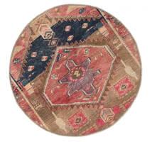 Vintage Heritage Matto Ø 100 Moderni Käsinsolmittu Pyöreä Ruskea/Tummanpunainen (Villa, Persia/Iran)