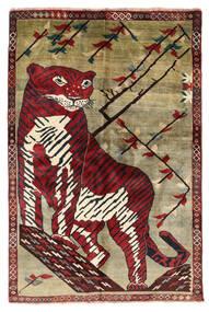 Ghashghai Matto 124X180 Itämainen Käsinsolmittu Tummanruskea/Tummanpunainen (Villa, Persia/Iran)