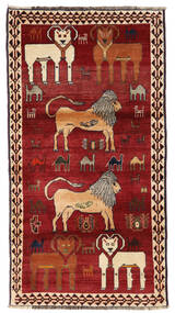 Ghashghai Matto 117X201 Itämainen Käsinsolmittu Tummanpunainen/Punainen (Villa, Persia/Iran)