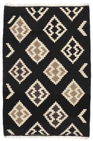 Kelim Matto 104X156 Itämainen Käsinkudottu Musta/Beige (Villa, Persia/Iran)