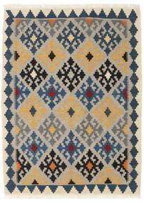 Kelim Matto 107X146 Itämainen Käsinkudottu Vaaleanharmaa/Tummansininen/Beige (Villa, Persia/Iran)