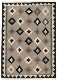 Kelim Matto 112X156 Itämainen Käsinkudottu Vaaleanharmaa/Beige (Villa, Persia/Iran)
