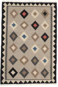 Kelim Matto 102X152 Itämainen Käsinkudottu Vaaleanharmaa/Tummanharmaa (Villa, Persia/Iran)