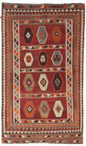 Kelim Vintage Matto 133X232 Itämainen Käsinkudottu Tummanpunainen/Vaaleanruskea/Tummanruskea (Villa, Persia/Iran)