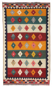 Kelim Vintage Matto 147X258 Itämainen Käsinkudottu Tummanpunainen/Tummanharmaa (Villa, Persia/Iran)