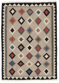 Kelim Matto 102X144 Itämainen Käsinkudottu Vaaleanharmaa/Tummanharmaa (Villa, Persia/Iran)