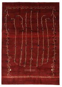 Gabbeh Persia Matto 201X283 Moderni Käsinsolmittu Punainen/Tummanpunainen (Villa, Persia/Iran)