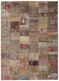 Patchwork - Persien/Iran Matto 297X405 Moderni Käsinsolmittu Vaaleanharmaa/Ruskea Isot (Villa, Persia/Iran)