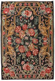Ruusukelim Moldavia Matto 201X298 Itämainen Käsinkudottu Musta/Tummanpunainen (Villa, Moldova)