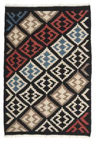 Kelim Matto 103X154 Itämainen Käsinkudottu Musta/Beige (Villa, Persia/Iran)
