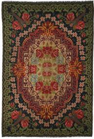 Ruusukelim Moldavia Matto 219X322 Itämainen Käsinkudottu Musta/Tummanruskea (Villa, Moldova)