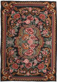 Ruusukelim Moldavia Matto 207X280 Itämainen Käsinkudottu Tummanruskea/Tummanpunainen (Villa, Moldova)