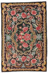Ruusukelim Moldavia Matto 191X285 Itämainen Käsinkudottu Musta/Tummanharmaa (Villa, Moldova)