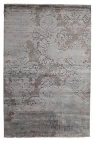 Damask Indo Matto 199X297 Moderni Käsinsolmittu Vaaleanharmaa/Tummanruskea/Tummanharmaa (Villa/Bambu Silkki, Intia)