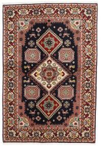 Ardebil Matto 138X203 Itämainen Käsinsolmittu Tummanruskea/Tummanpunainen (Villa, Persia/Iran)
