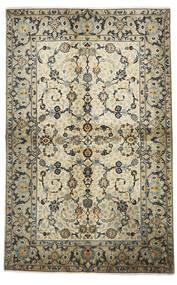 Keshan Matto 140X225 Itämainen Käsinsolmittu Oliivinvihreä/Tummanbeige (Villa, Persia/Iran)