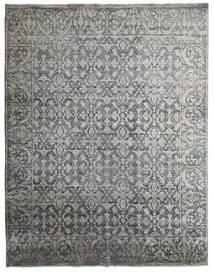 Damask Indo Matto 231X295 Moderni Käsinsolmittu Vaaleanharmaa/Tummanharmaa (Villa/Bambu Silkki, Intia)