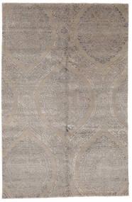 Damask Indo Matto 169X260 Moderni Käsinsolmittu Vaaleanharmaa (Villa/Bambu Silkki, Intia)