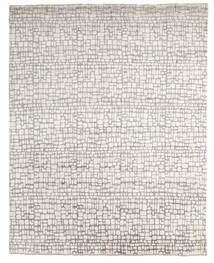Damask Indo Matto 242X303 Moderni Käsinsolmittu Vaaleanharmaa/Beige (Villa/Bambu Silkki, Intia)