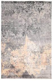 Damask Indo Matto 200X302 Moderni Käsinsolmittu Vaaleanharmaa/Beige/Tummanharmaa (Villa/Bambu Silkki, Intia)