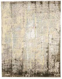 Damask Indo Matto 239X305 Moderni Käsinsolmittu Beige/Vaaleanharmaa (Villa/Bambu Silkki, Intia)