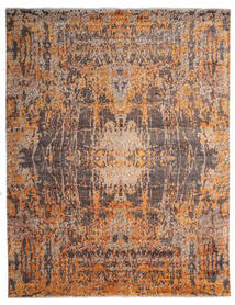 Damask Indo Matto 239X306 Moderni Käsinsolmittu Ruskea/Tummanruskea (Villa/Bambu Silkki, Intia)