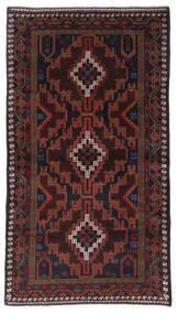 Beluch Matto 104X193 Itämainen Käsinsolmittu Tummanpunainen (Villa, Afganistan)