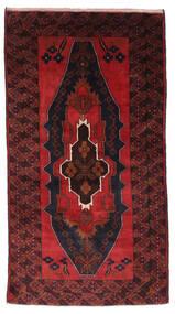 Beluch Matto 103X195 Itämainen Käsinsolmittu Tummanpunainen (Villa, Afganistan)