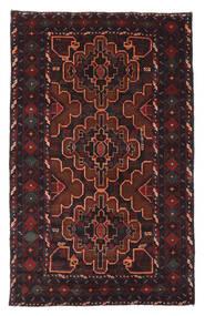 Beluch Matto 120X193 Itämainen Käsinsolmittu Musta/Tummanpunainen (Villa, Afganistan)