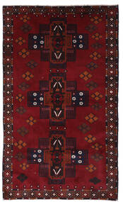 Beluch Matto 110X198 Itämainen Käsinsolmittu Tummanpunainen (Villa, Afganistan)