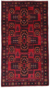 Beluch Matto 113X203 Itämainen Käsinsolmittu Tummanpunainen/Punainen (Villa, Afganistan)