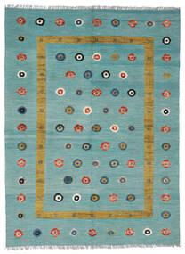 Kelim Moderni Matto 171X232 Moderni Käsinkudottu Siniturkoosi/Siniturkoosi (Villa, Afganistan)