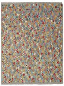 Kelim Afghan Old Style Matto 180X239 Itämainen Käsinkudottu Tummanharmaa/Vaaleanharmaa (Villa, Afganistan)