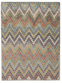 Kelim Afghan Old Style Matto 180X245 Itämainen Käsinkudottu Tummanharmaa/Vaaleanharmaa (Villa, Afganistan)