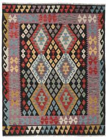 Kelim Afghan Old Style Matto 156X196 Itämainen Käsinkudottu Musta/Tummanharmaa (Villa, Afganistan)
