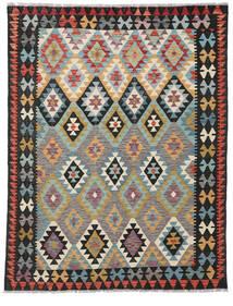 Kelim Afghan Old Style Matto 155X199 Itämainen Käsinkudottu Musta/Tummanharmaa (Villa, Afganistan)