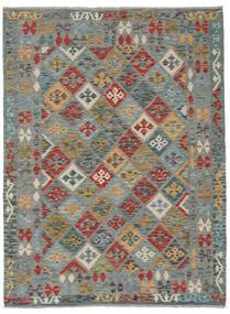 Kelim Afghan Old Style Matto 151X202 Itämainen Käsinkudottu Tummanharmaa/Vaaleanharmaa (Villa, Afganistan)