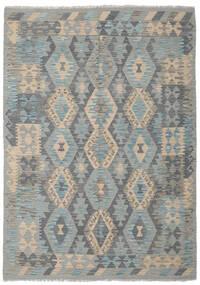 Kelim Afghan Old Style Matto 177X249 Itämainen Käsinkudottu Vaaleanharmaa/Tummanvihreä (Villa, Afganistan)