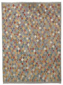Kelim Afghan Old Style Matto 175X237 Itämainen Käsinkudottu Vaaleanharmaa/Tummanharmaa (Villa, Afganistan)