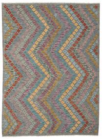 Kelim Afghan Old Style Matto 178X241 Itämainen Käsinkudottu Tummanharmaa/Vaaleanharmaa (Villa, Afganistan)