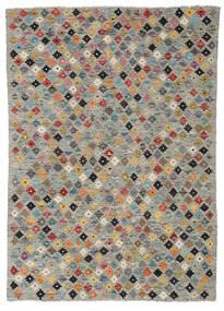 Kelim Afghan Old Style Matto 126X180 Itämainen Käsinkudottu Vaaleanharmaa/Tummanharmaa (Villa, Afganistan)