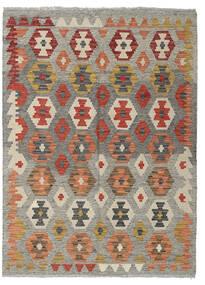 Kelim Afghan Old Style Matto 128X175 Itämainen Käsinkudottu Vaaleanharmaa/Tummanpunainen (Villa, Afganistan)
